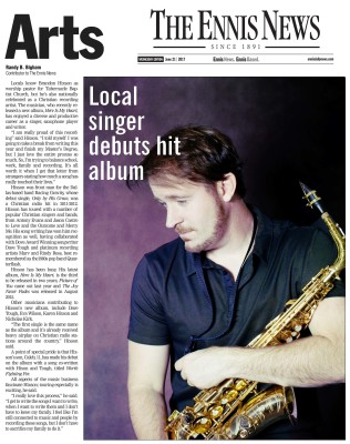 Brandon Hixson - Local Singer Debuts Hit Album