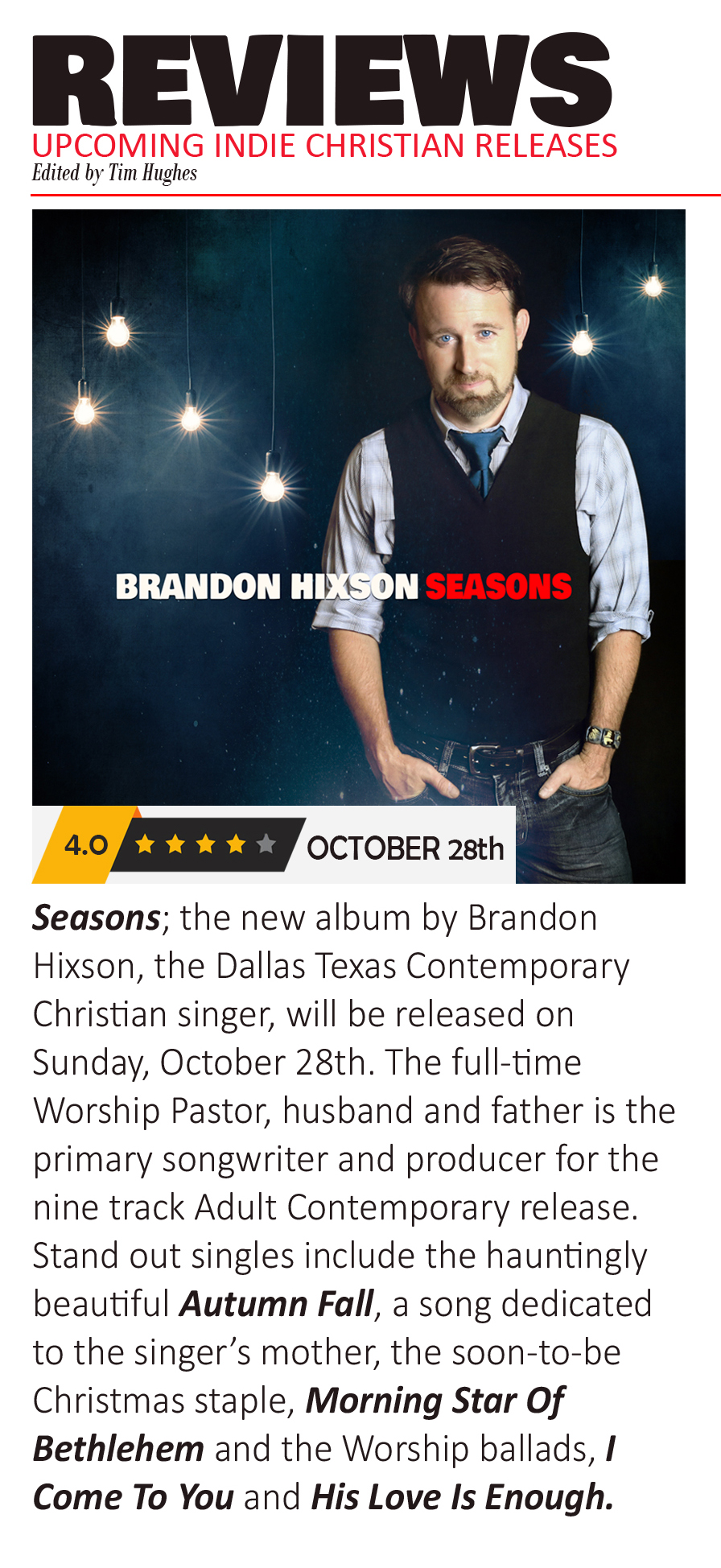 Brandon Hixson Seasons Review